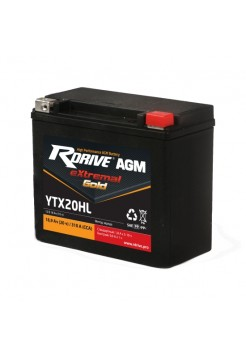 Мото аккумулятор RDRIVE EXTREMAL GOLD YTX20HL