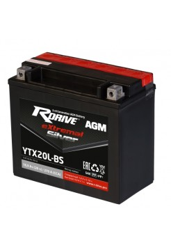 Мото аккумулятор RDRIVE EXTREMAL SILVER YTX20L-BS