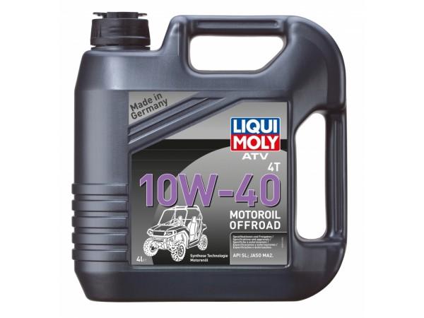Liqui Moly Cинтетическое моторное масло для 4-тактных мотоциклов ATV 4T Motoroil Offroad 10W-40 4л