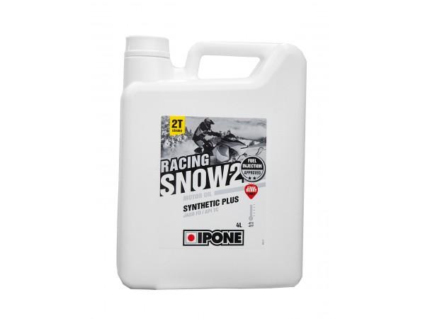 IPONE SNOW Масло моторное RACING FRAISE 2T 4L синтетика с запахом клубники