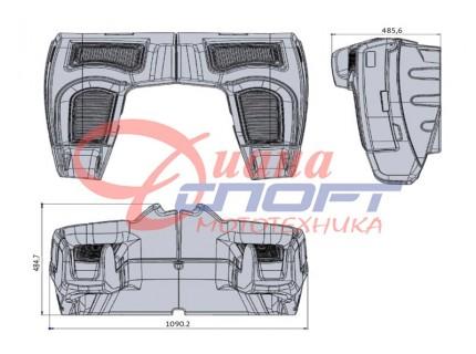 Кофр задний для квадроцикла GKA Max-Ride