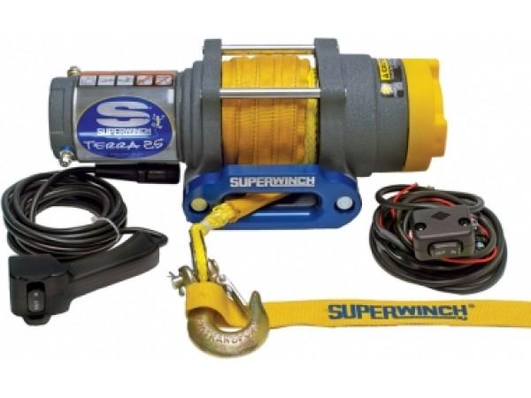 Лебедка электрическая Superwinch TERRA 25 с синтетическим тросом