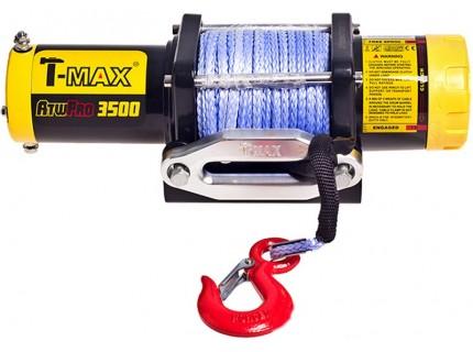 Лебедка электрическая T-max ATW PRO 3500 с синтетическим тросом