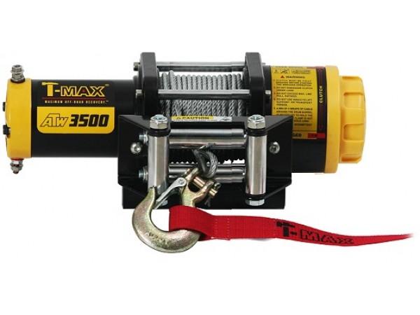 Лебедка электрическая T-max ATW PRO -3500 со стальным тросом