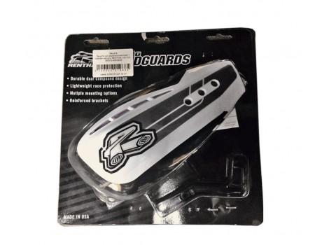 Защита рук двухкомпонентная + крепеж RENTHAL HG-100 белая