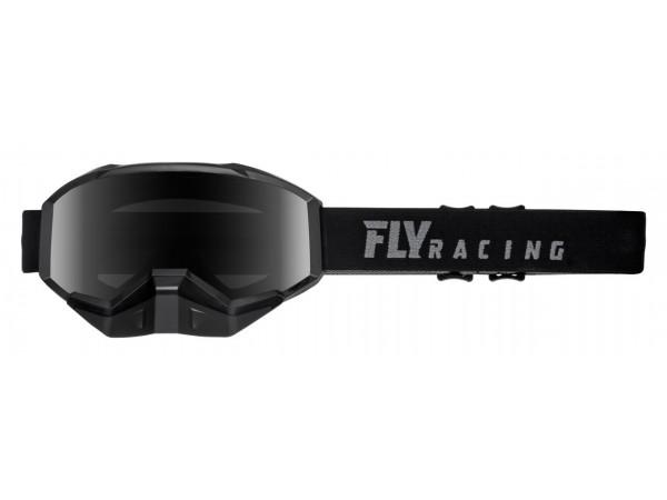 FLY RACING Очки для снегохода детские FOCUS YOUTH черные, прозрачные