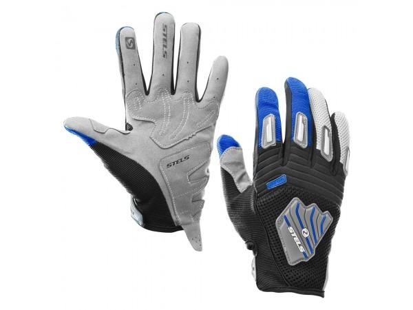 Перчатки мотоциклетные из искуственной кожи МХ32-blue