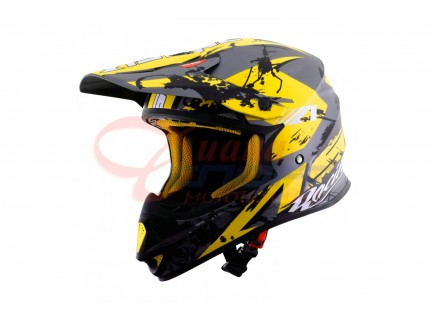 Кроссовый шлем Astone MX600 GIANT white-yellow-black