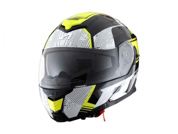Шлем модуляр ASTONE RT1200 TOURING (black white/yellow flyo)