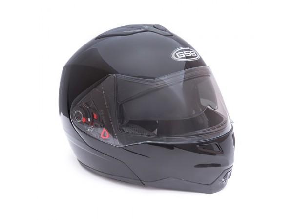 Шлем открытый GSB G-339 BLUETOOTH (black matt)