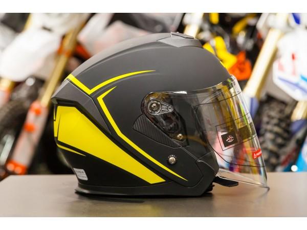 Шлем (открытый со стеклом) Ataki JK526 Stripe